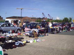 Pasar loak di Bremerhaven