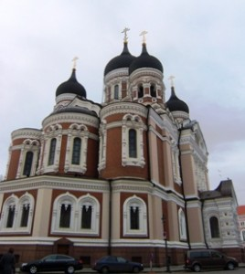 Gereja Ortodoks di Tallinn, Estonia